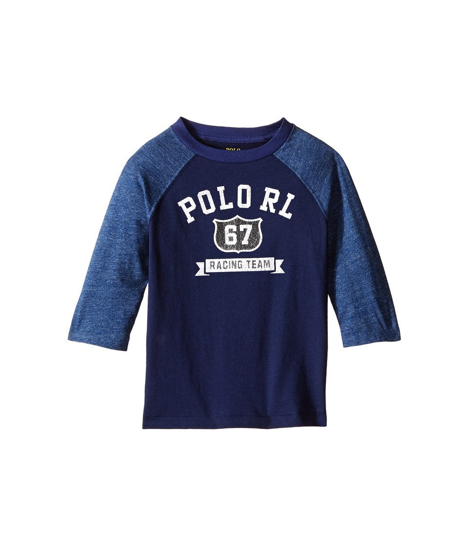 Polo Ralph Lauren Kids - Cotton Jersey Baseball Tee (Toddler) (Blue Mood) Boy's T Shirt