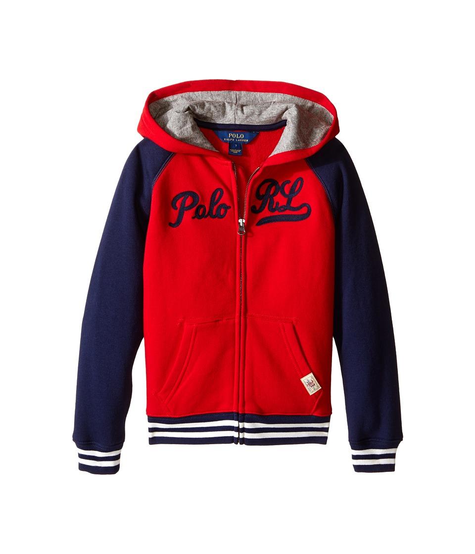 Polo Ralph Lauren Kids - Seasonal Fleece Full Zip Top (Little Kids/Big Kids) (Camden Red) Boy's Clothing