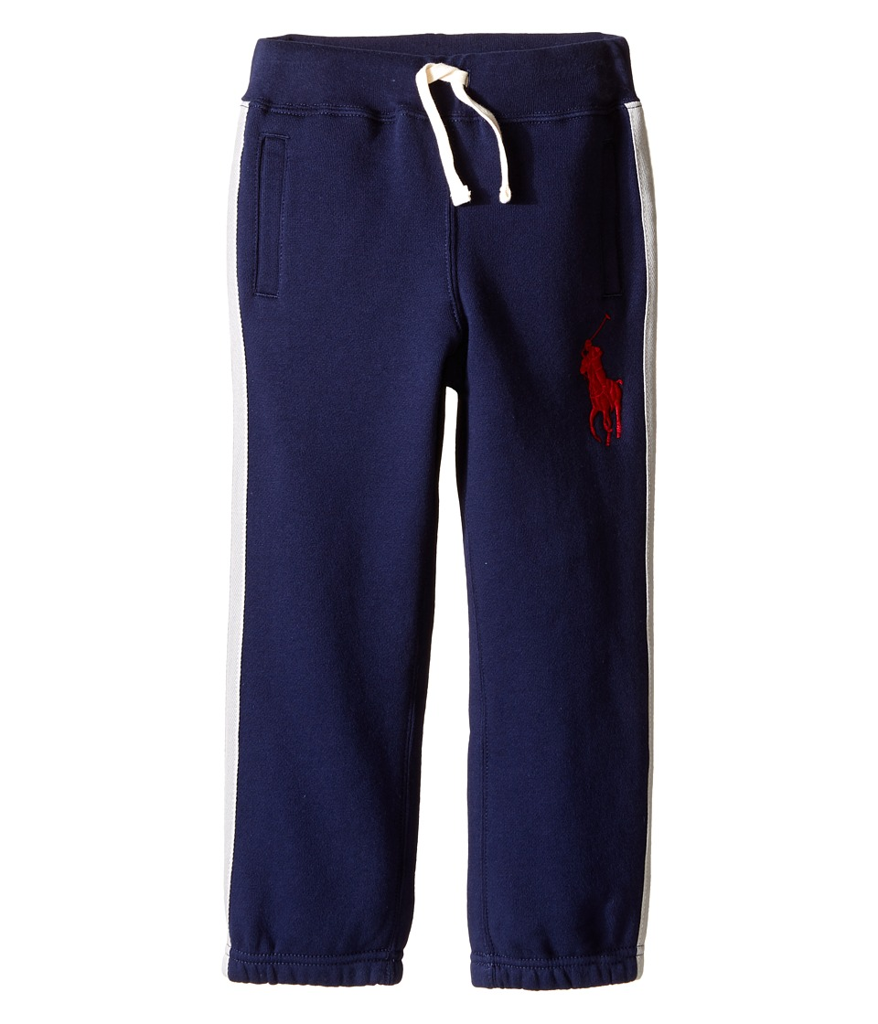 Polo Ralph Lauren Kids - Seasonal Fleece Pants (Little Kids) (French Navy) Boy's Casual Pants