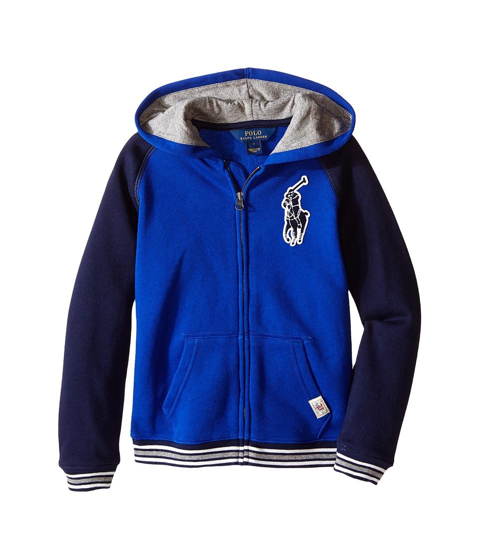 Polo Ralph Lauren Kids - Seasonal Fleece Full Zip Hoodie (Little Kids/Big Kids) (Cruise Royal) Boy's Sweatshirt