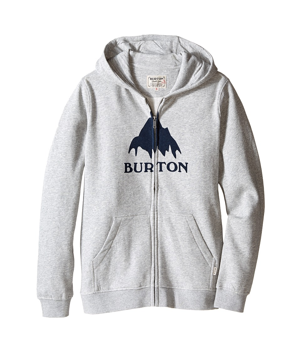 Burton Kids - Classic Mountain Full Zip Hoodie (Big Kids) (Gray Heather 2) Boy's Sweatshirt