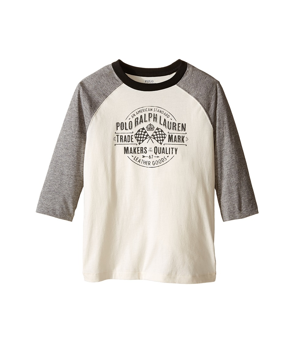Polo Ralph Lauren Kids - Jersey Baseball Tee (Little Kids/Big Kids) (Antique Cream) Boy's T Shirt