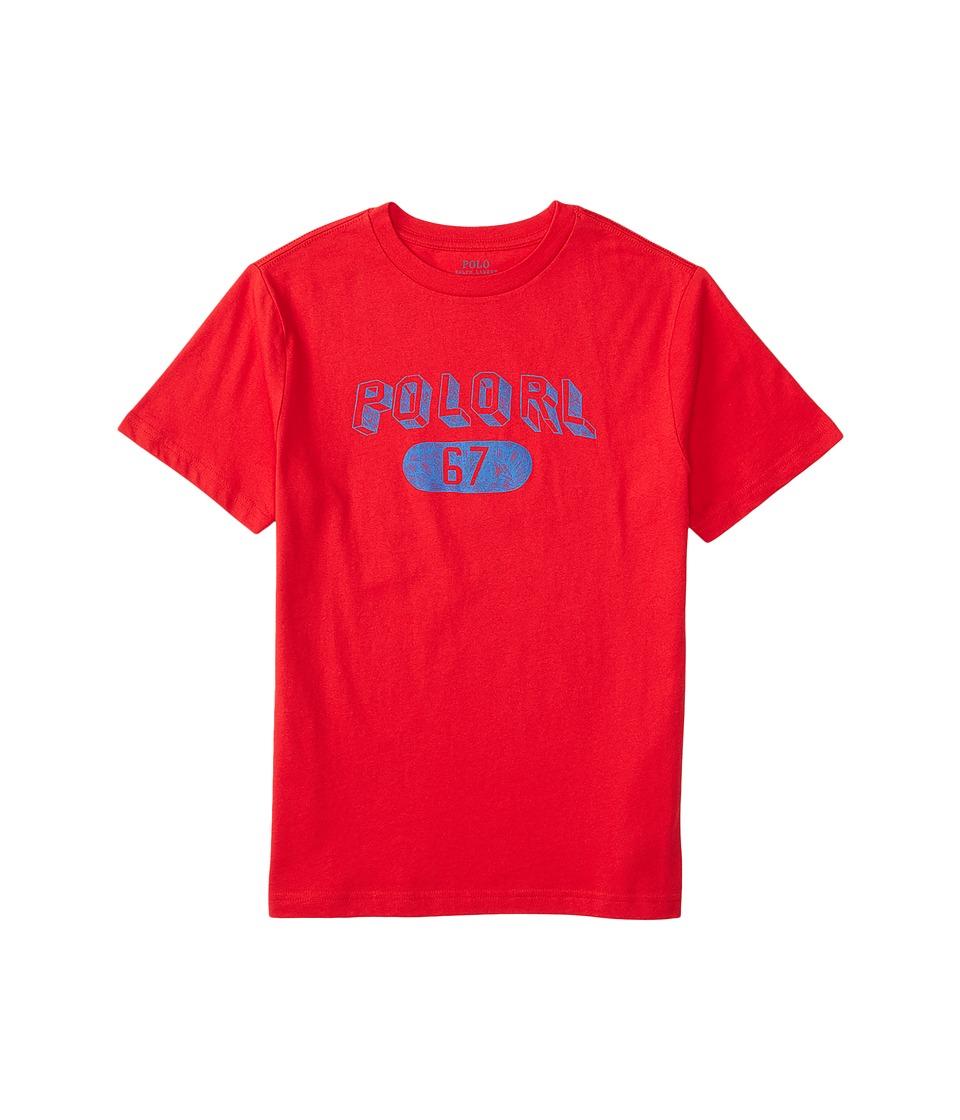 Polo Ralph Lauren Kids - 30/1 Jersey Graphic Tee (Little Kids/Big Kids) (Rl2000 Red) Boy's T Shirt