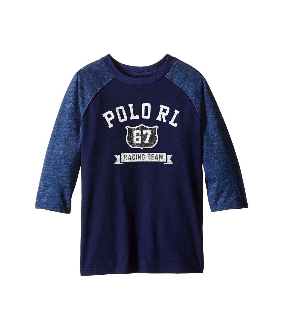 Polo Ralph Lauren Kids - Cotton Jersey Baseball Tee (Little Kids/Big Kids) (Blue Mood) Boy's T Shirt