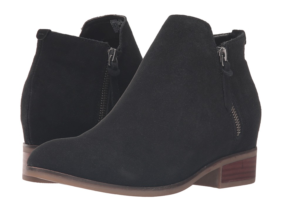 Steve Madden - Arper (Black Suede) Women's Dress Zip Boots