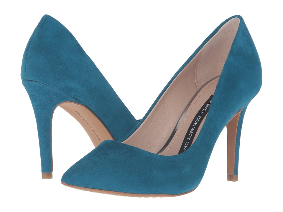 French Connection - Rosalie (Ink Blue Kid Suede) Women's Shoes