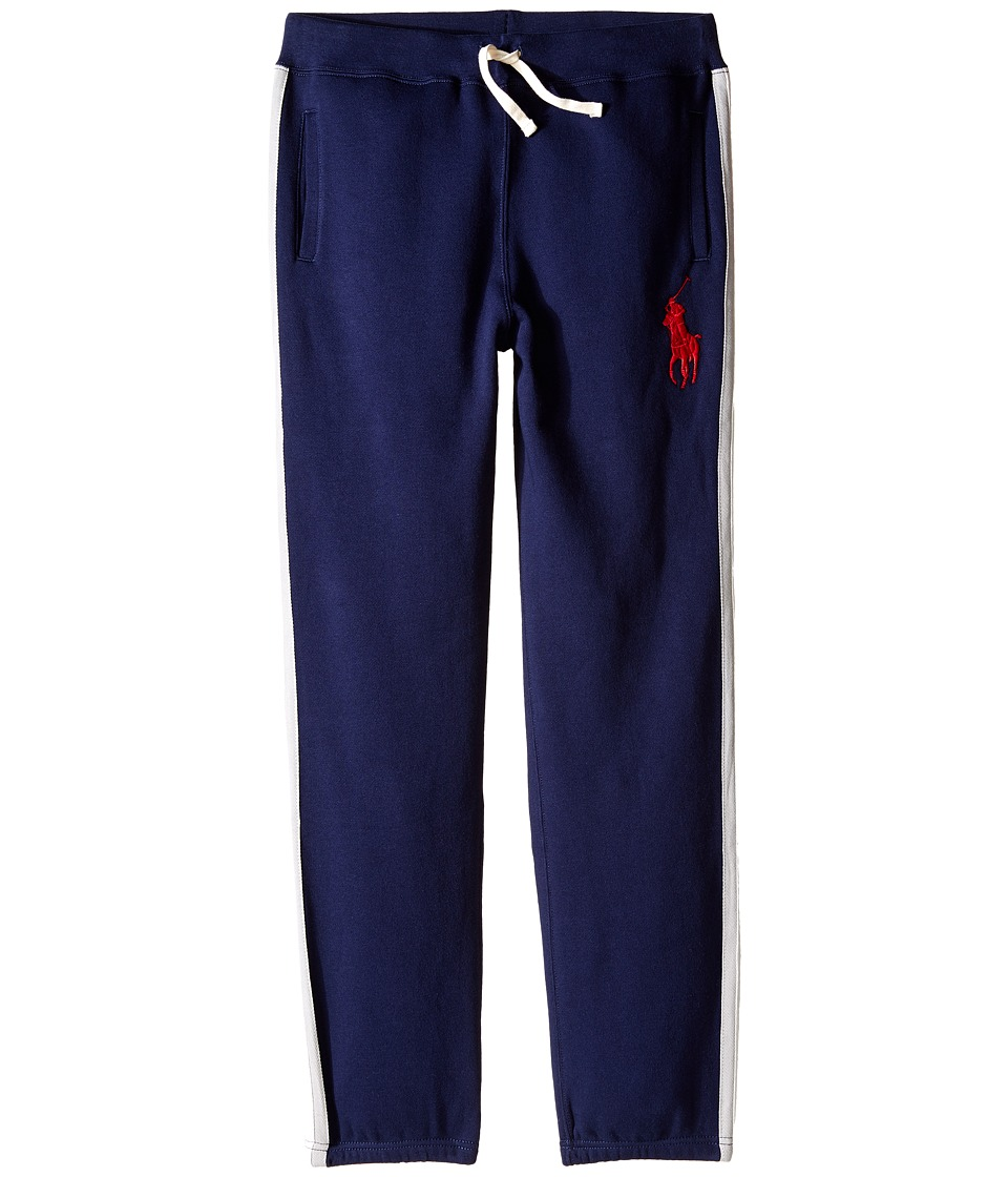Polo Ralph Lauren Kids - Seasonal Fleece Pants (Big Kids) (French Navy) Boy's Casual Pants