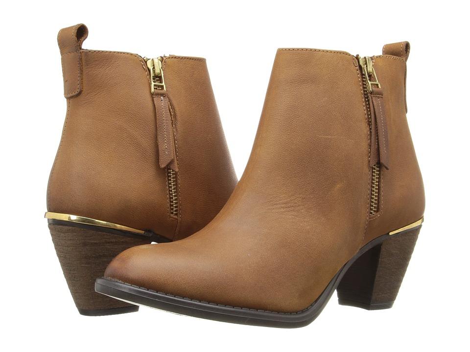 Steve Madden - Whendy (Cognac Nubuck) Women's Dress Zip Boots