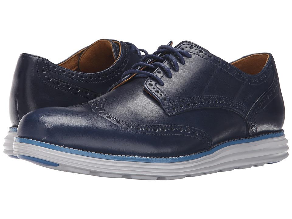 Cole Haan - Original Grand Wingtip (Peacoat/Vapor Blue) Men's Lace Up Wing Tip Shoes