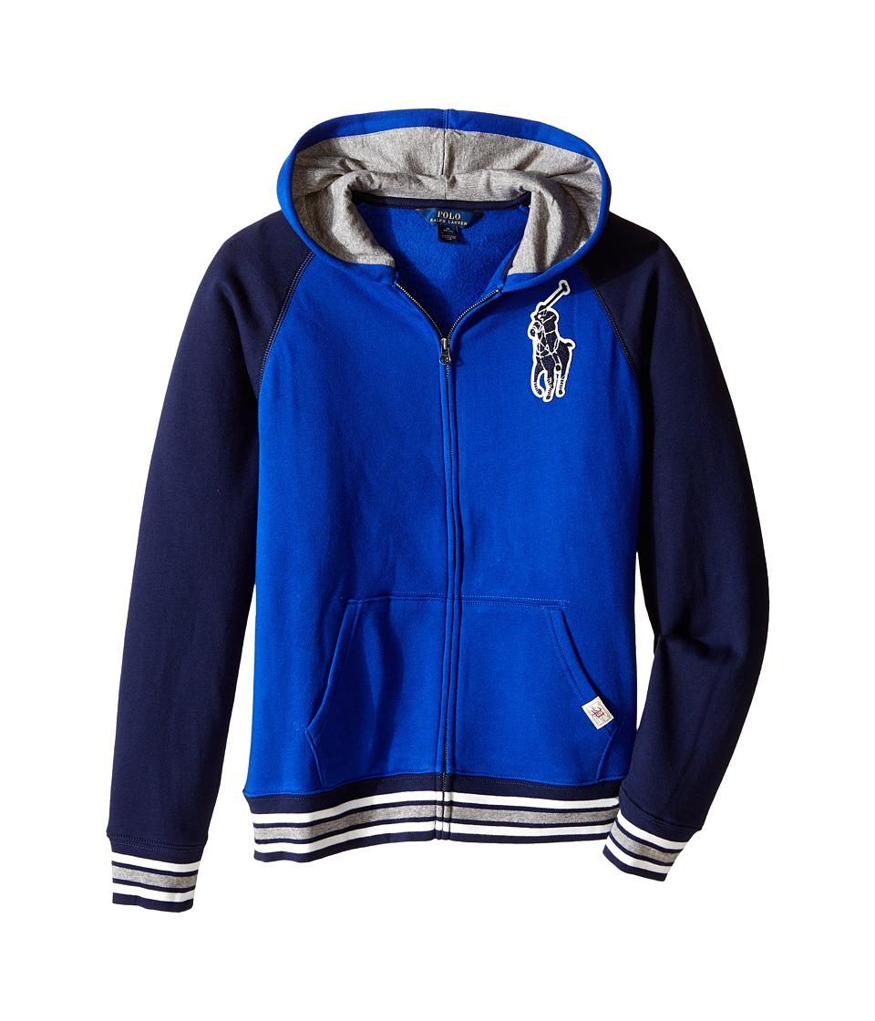 Polo Ralph Lauren Kids - Seasonal Fleece Full Zip Hoodie (Big Kids) (Cruise Royal) Boy's Sweatshirt