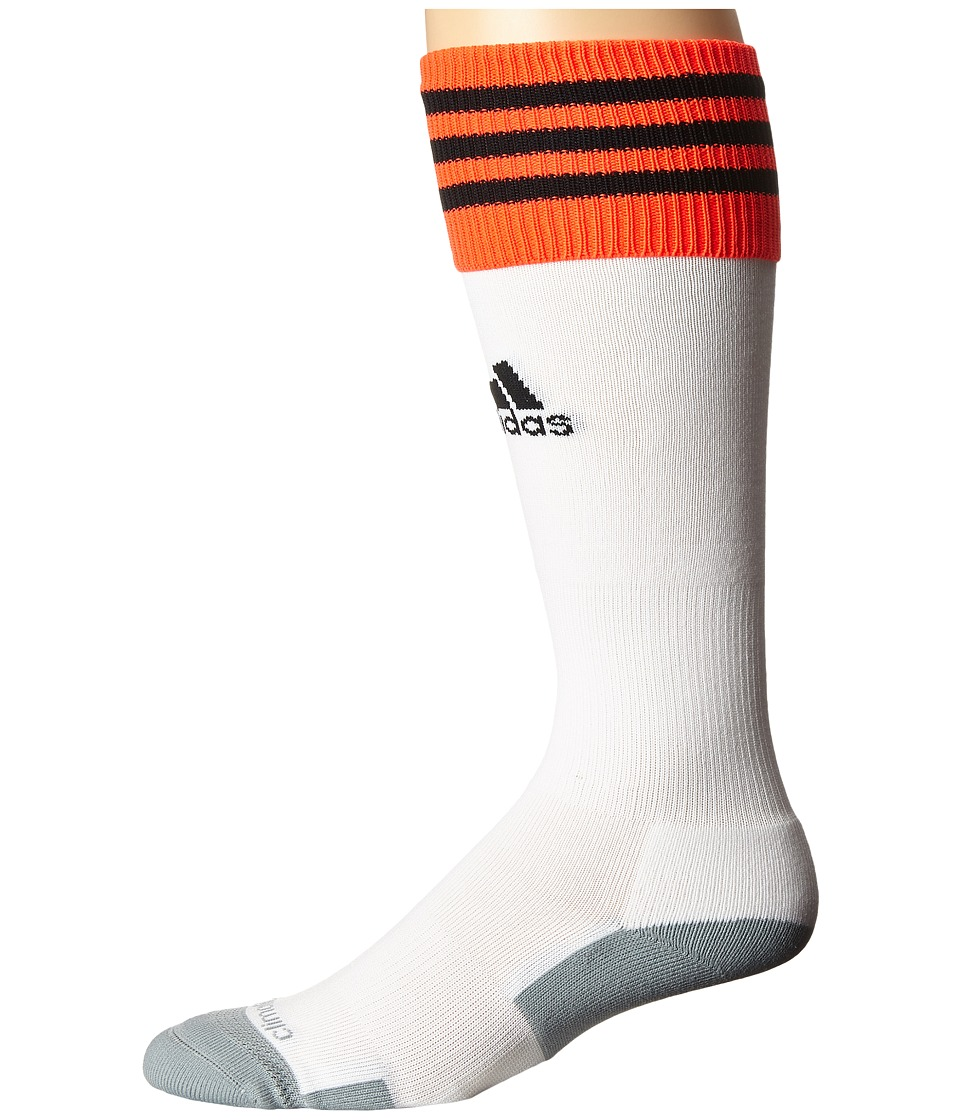 adidas - Copa Zone Cushion II Socks (White/Solar Red/Black) Knee High Socks Shoes