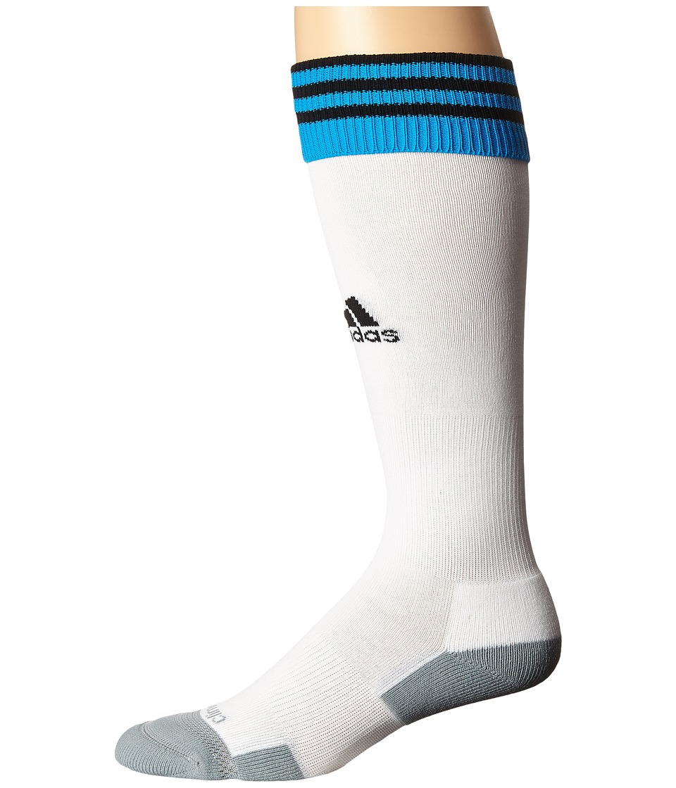 adidas - Copa Zone Cushion II Socks (White/Solar Blue/Black) Knee High Socks Shoes
