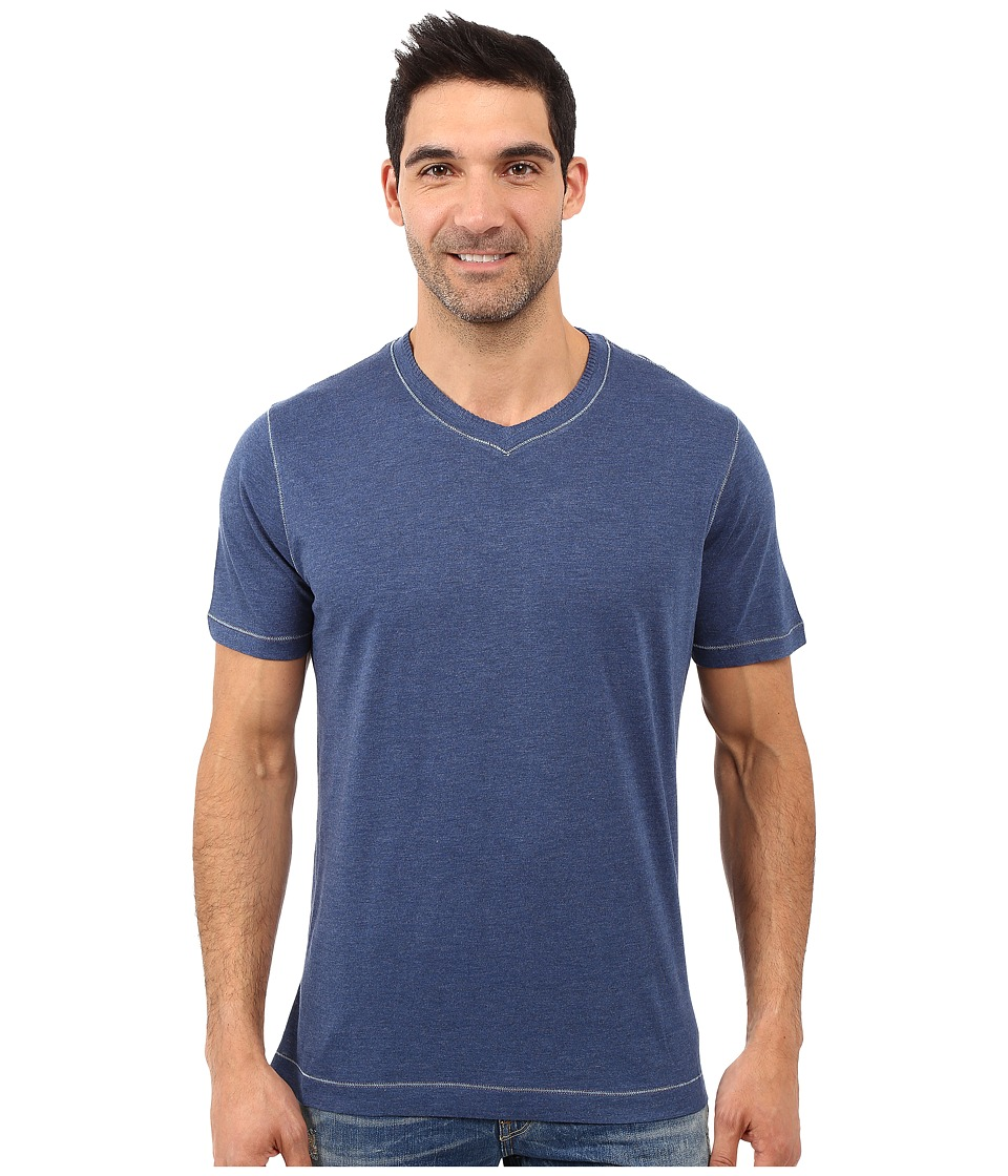 Robert Graham - Nomads Short Sleeve Knit T-Shirt (Heather Navy) Men's Short Sleeve Pullover