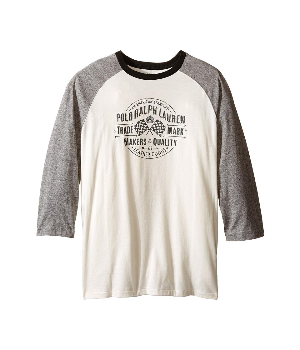 Polo Ralph Lauren Kids - Jersey Baseball Tee (Big Kids) (Antique Cream) Boy's T Shirt