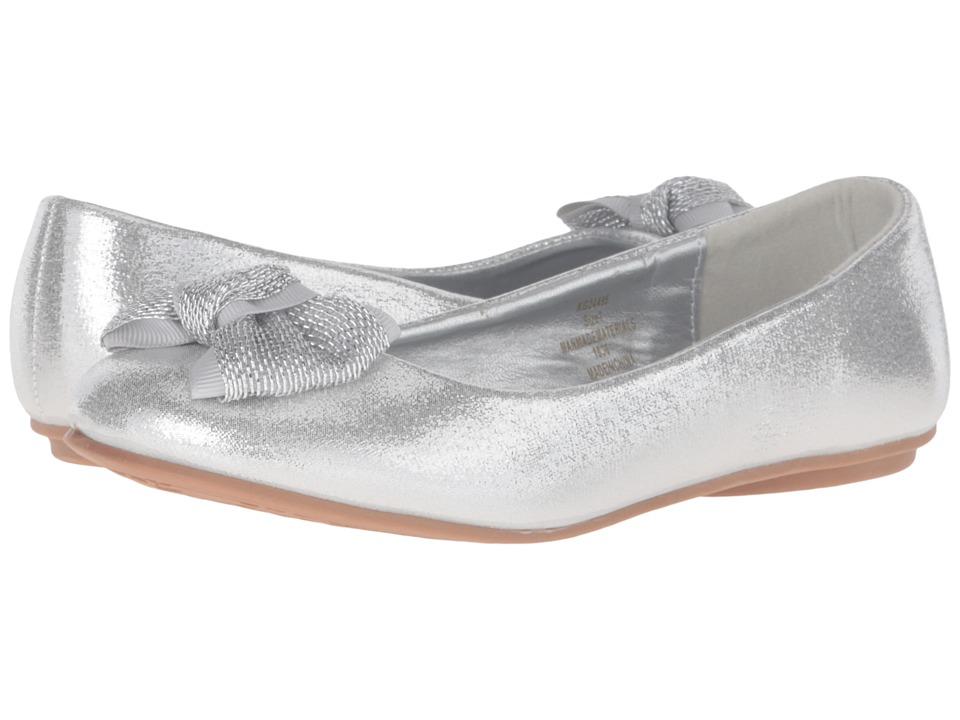 kensie girl Kids - Glitter Bow Ballet (Little Kid/Big Kid) (Silver Shine) Girls Shoes