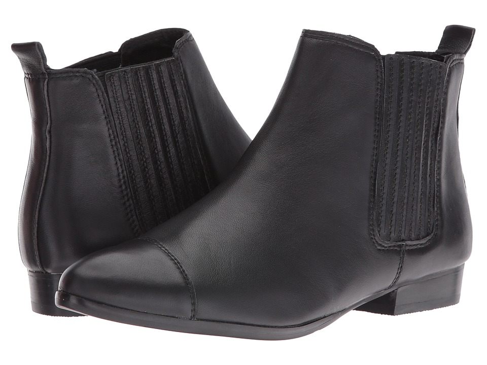 Steve Madden - Joshy (Black Leather) Women