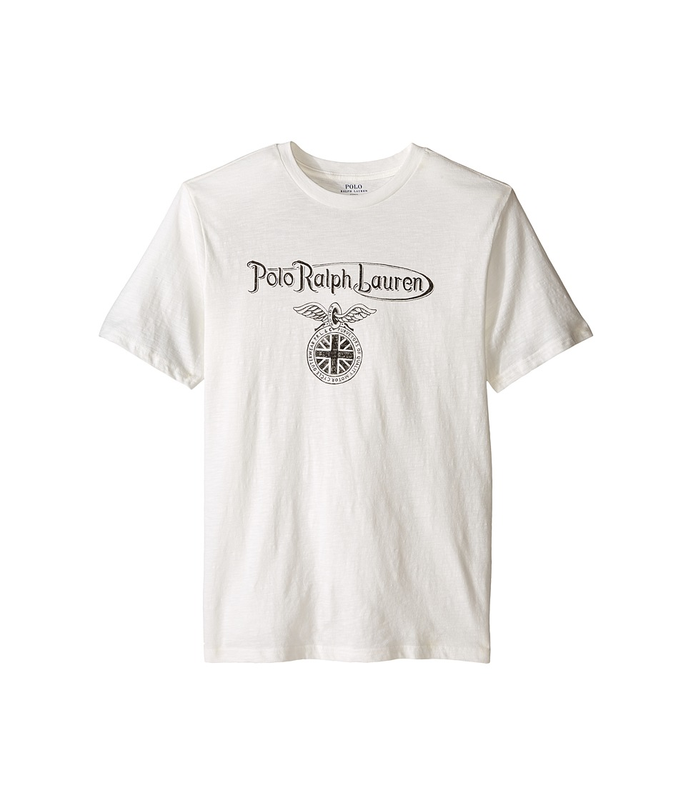 Polo Ralph Lauren Kids - 30s Jersey Short Sleeve Tee (Big Kids) (Deckwash White) Boy's T Shirt