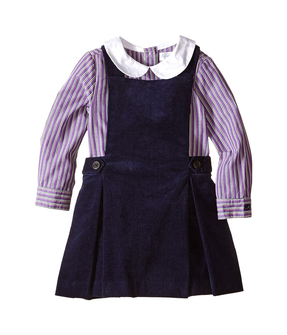 Ralph Lauren Baby - Corduroy Jumper Set (Infant) (Newport Navy) Girl's Active Sets