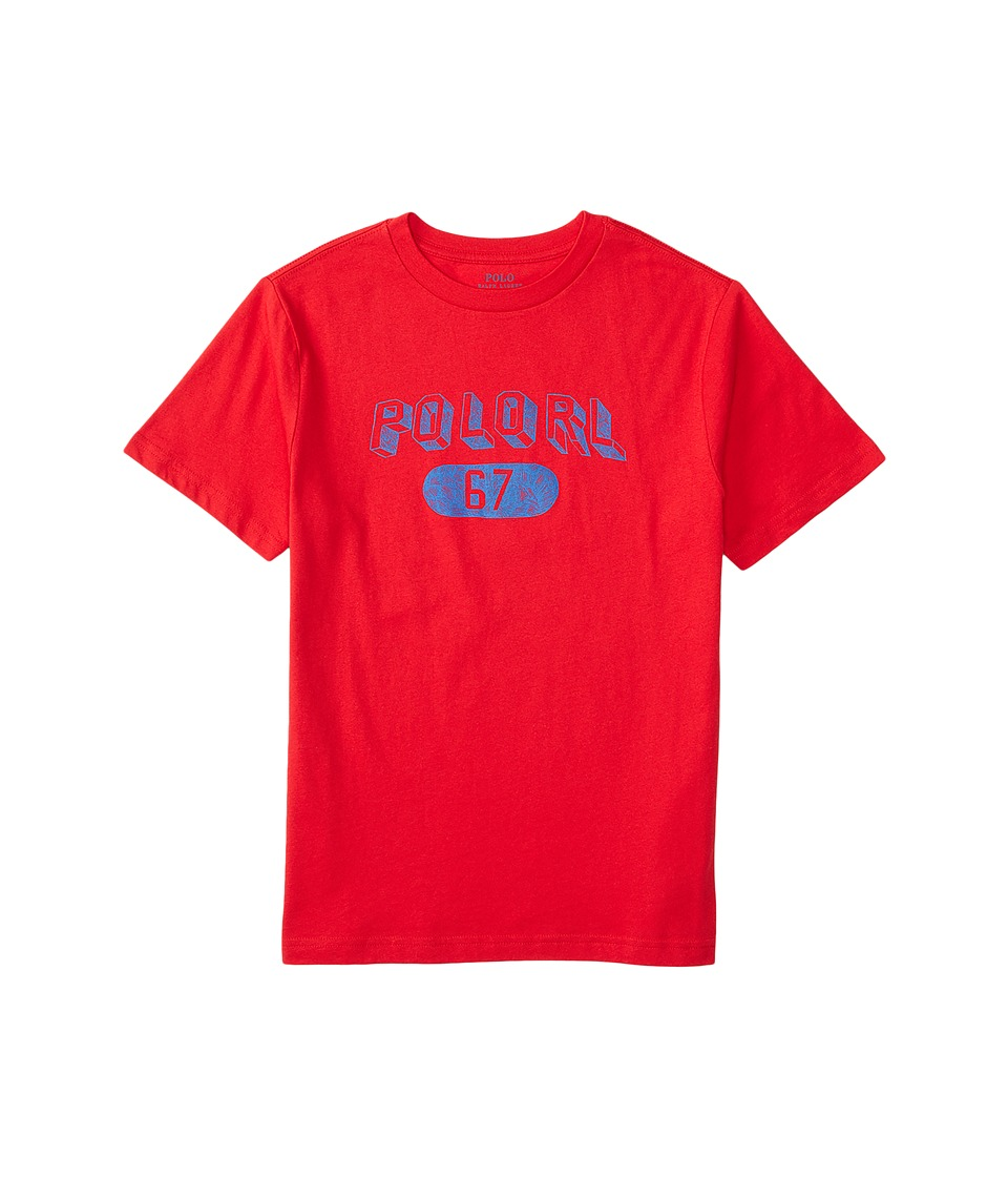 Polo Ralph Lauren Kids - 30/1 Jersey Graphic Tee (Big Kids) (Rl2000 Red) Boy's T Shirt