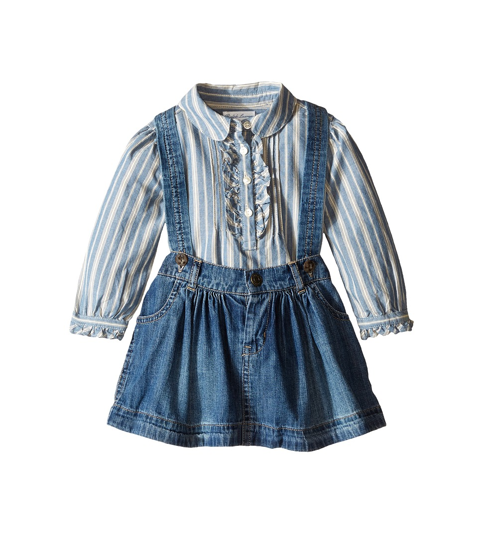 Ralph Lauren Baby - Lightweight Denim Skirt Set (Infant) (Indigo) Girl's Active Sets