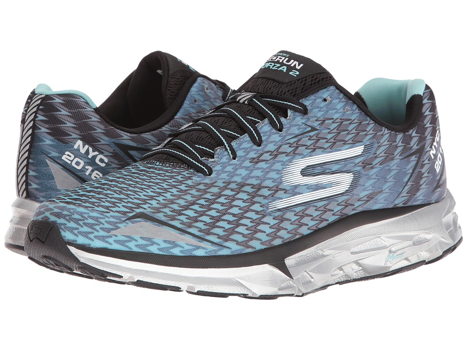 SKECHERS - Go Run Forza - NYC 16 (Black/Blue) Men's Running Shoes