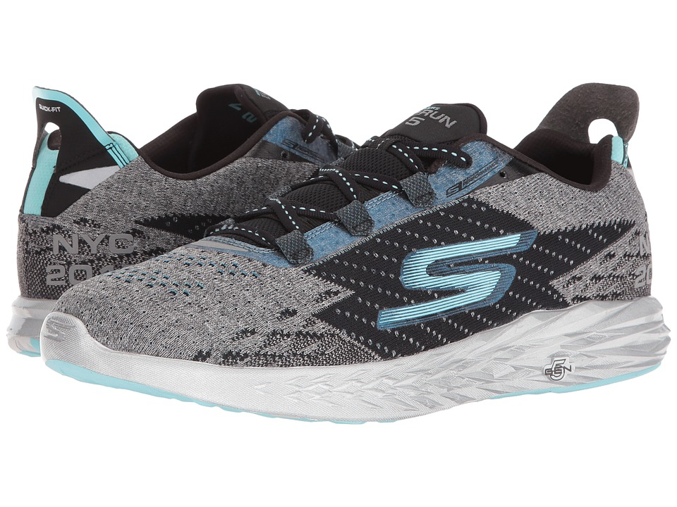 SKECHERS - Go Run 5 - NYC 16 (Gray/Black) Men's Running Shoes