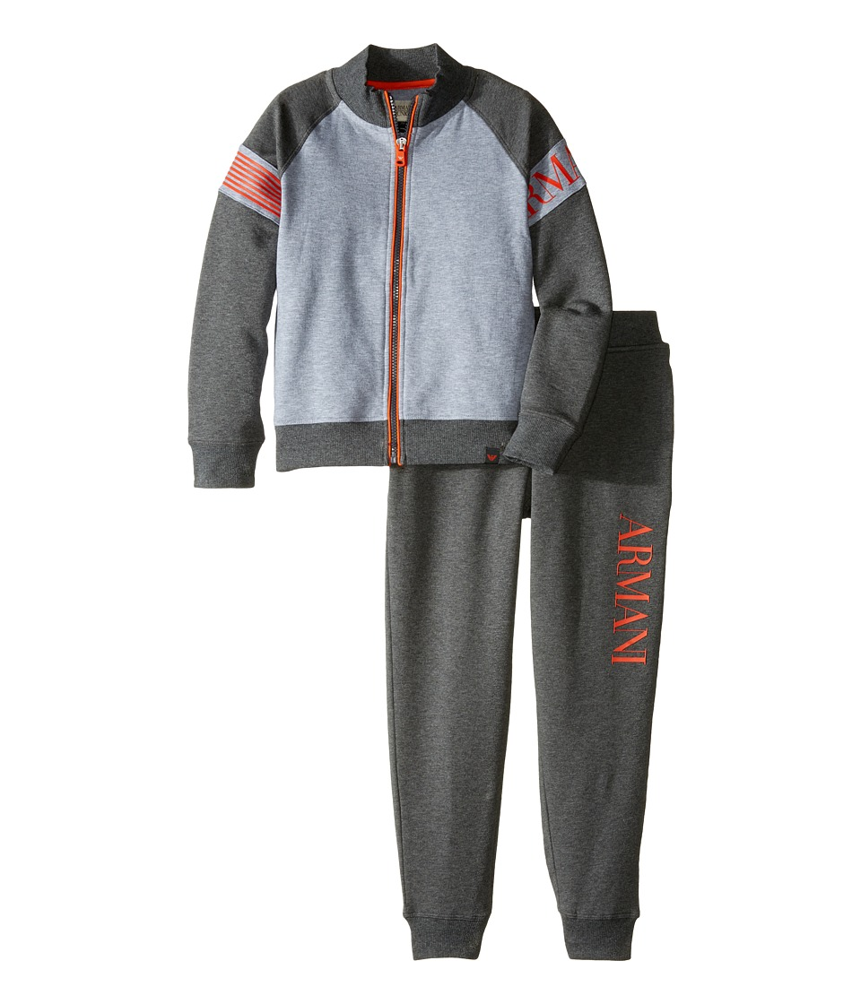 Armani Junior - Two-Tone Tracksuit (Toddler/Little Kids/Big Kids) (Grey) Boy's Active Sets