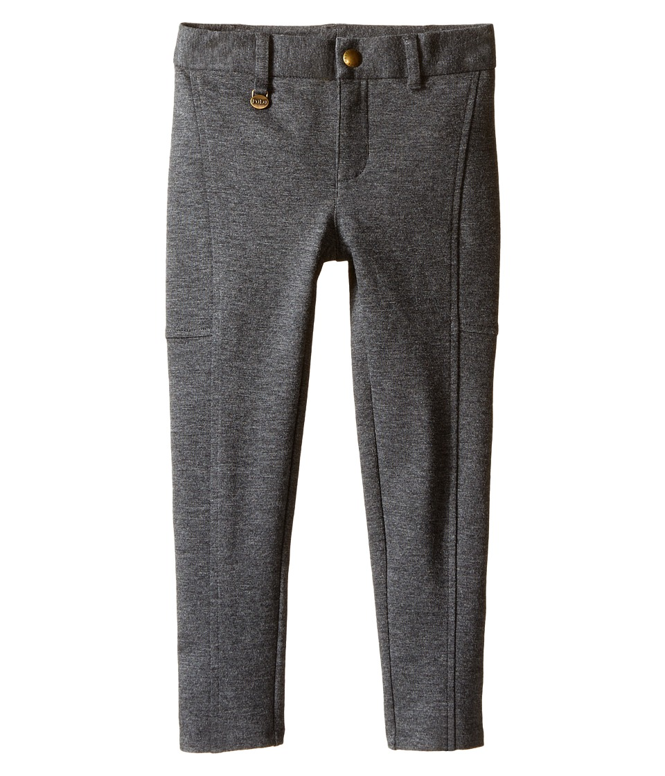 Polo Ralph Lauren Kids - Cotton Modal Knit Pants (Toddler) (Stadium Grey Heather) Girl's Casual Pants