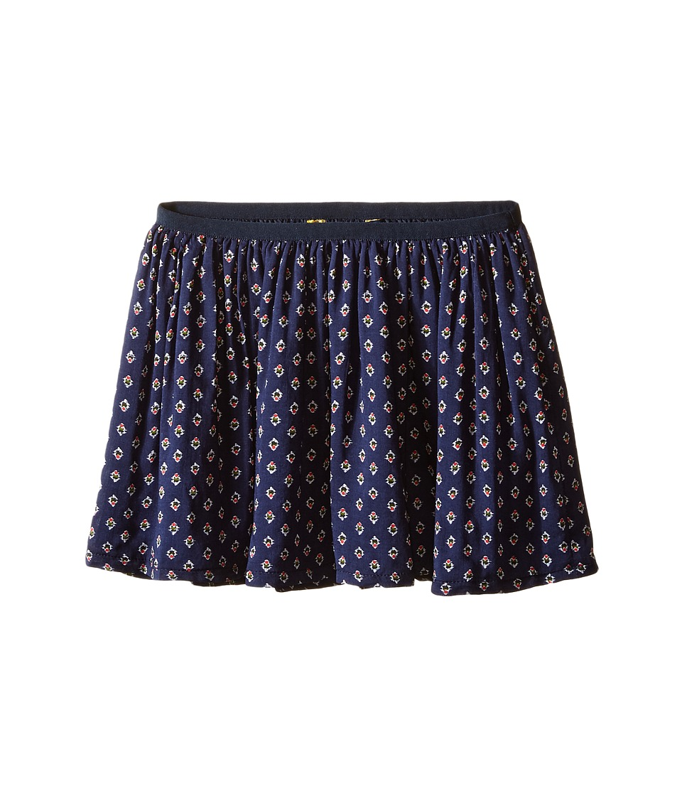 Polo Ralph Lauren Kids - Cotton Blend Flounce Skirt (Toddler) (Navy/White Multi) Girl's Skirt