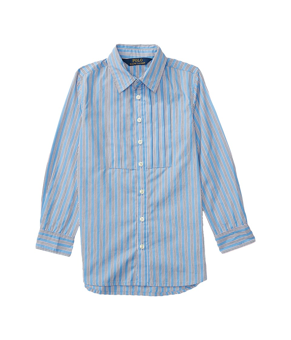 Polo Ralph Lauren Kids - Yarn-Dyed Cotton Poplin Stripe Tunic (Little Kids) (Blue/White Multi) Girl's Clothing