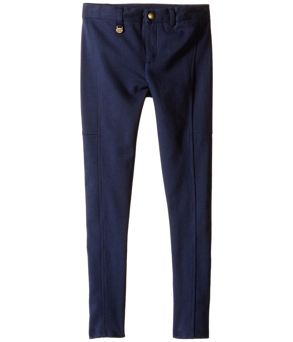 Polo Ralph Lauren Kids - Cotton Modal Knit Pants (Little Kids) (Aviator Navy) Girl's Casual Pants