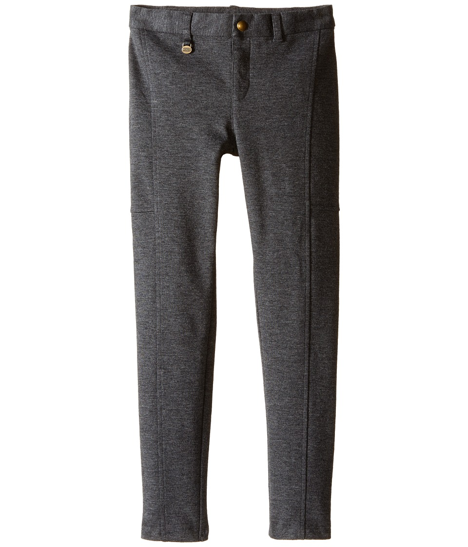 Polo Ralph Lauren Kids - Cotton Modal Knit Pants (Little Kids) (Stadium Grey Heather) Girl's Casual Pants