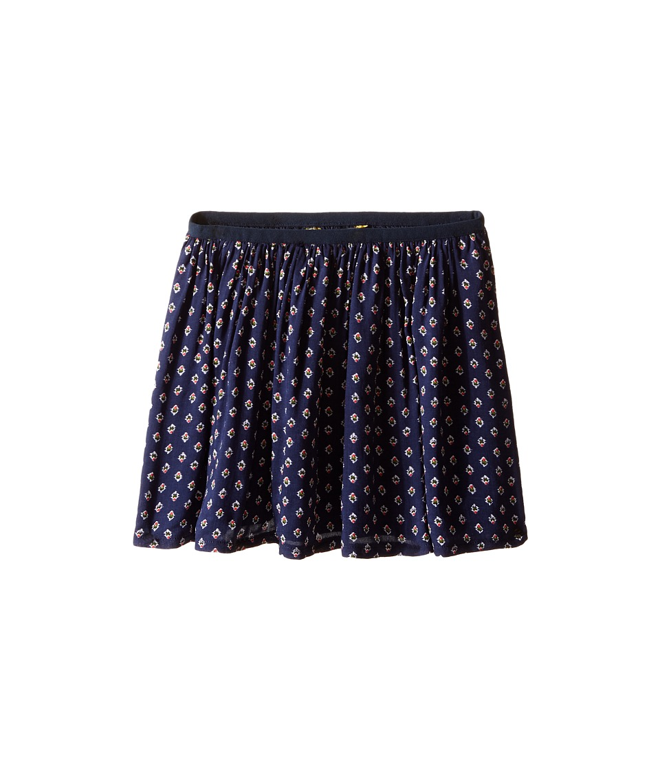 Polo Ralph Lauren Kids - Cotton Blend Flounce Skirt (Little Kids) (Navy/White Multi) Girl's Skirt
