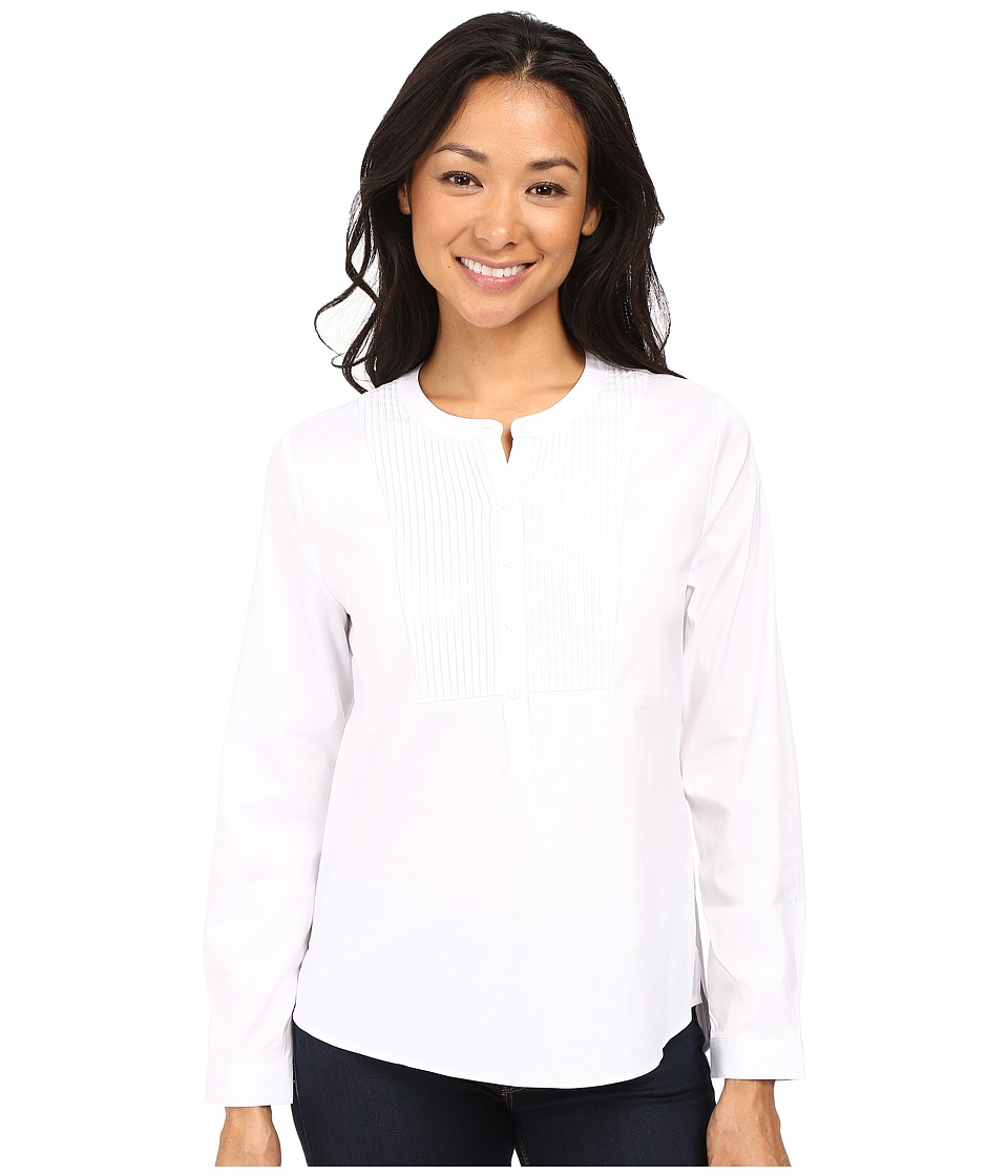 NYDJ Petite - Petite Crisp White Tunic Blouse (Optic White) Women's Blouse