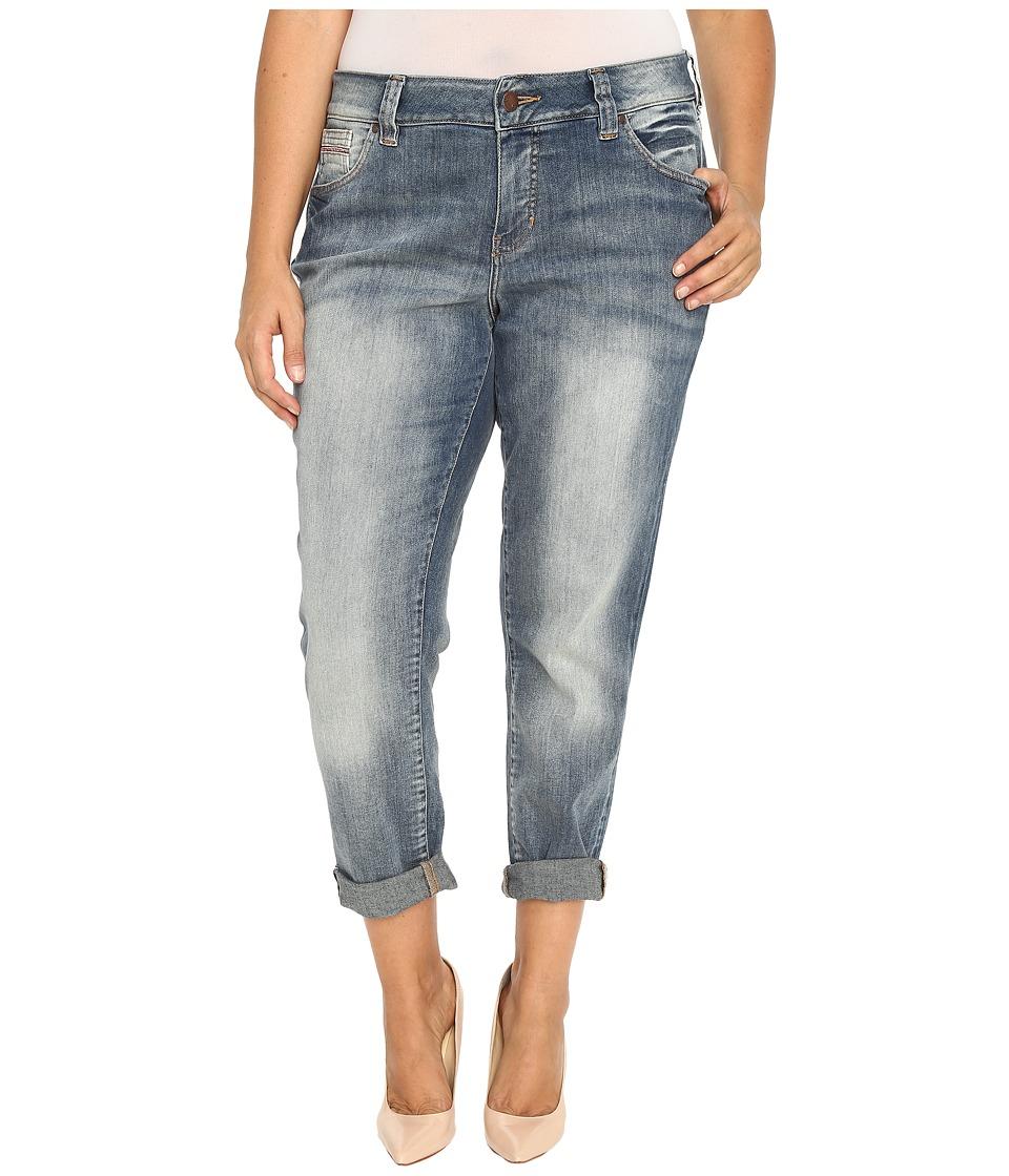 Jag Jeans Plus Size - Plus Size Relaxed Boyfriend in Saginaw Blue Platinum Denim (Saginaw Blue) Women's Jeans