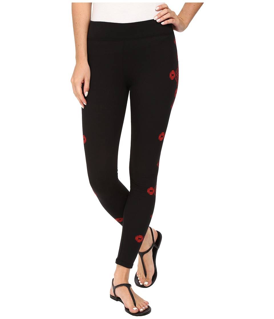 Rock and Roll Cowgirl - Leggings 78-8230 (Black) Women's Casual Pants