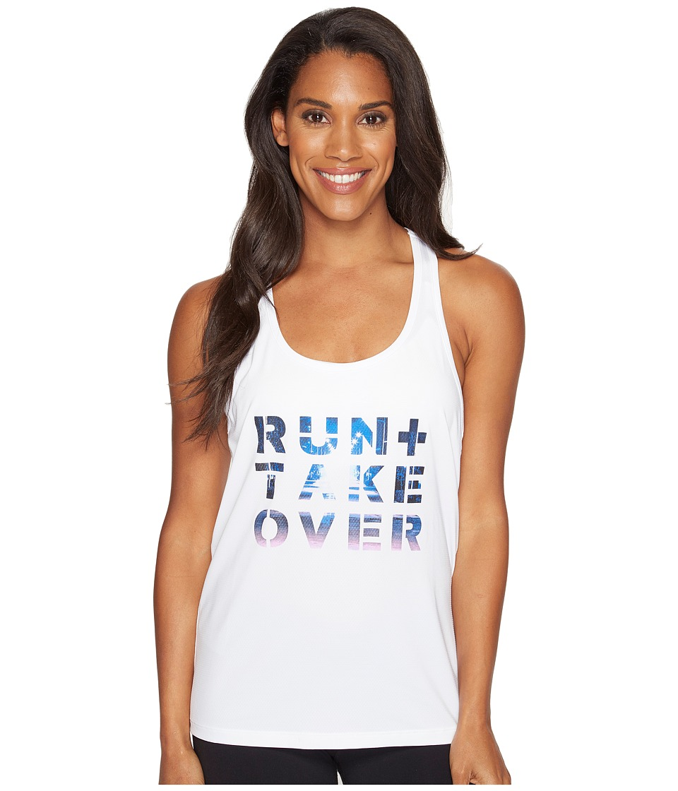 Under Armour Run Takeover Graphic Tank Top (White) Women