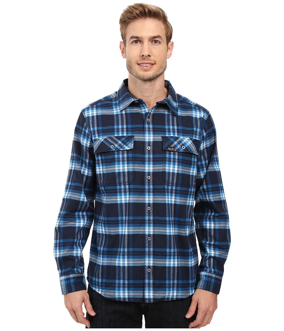 Jack Wolfskin - Valley Shirt (Night Blue Checks) Men's Clothing