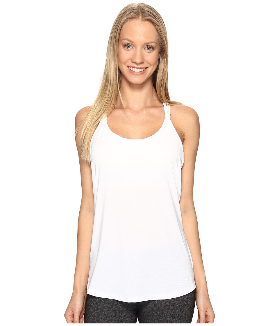 Under Armour Fly By Racerback Tank Top (White/White) Women
