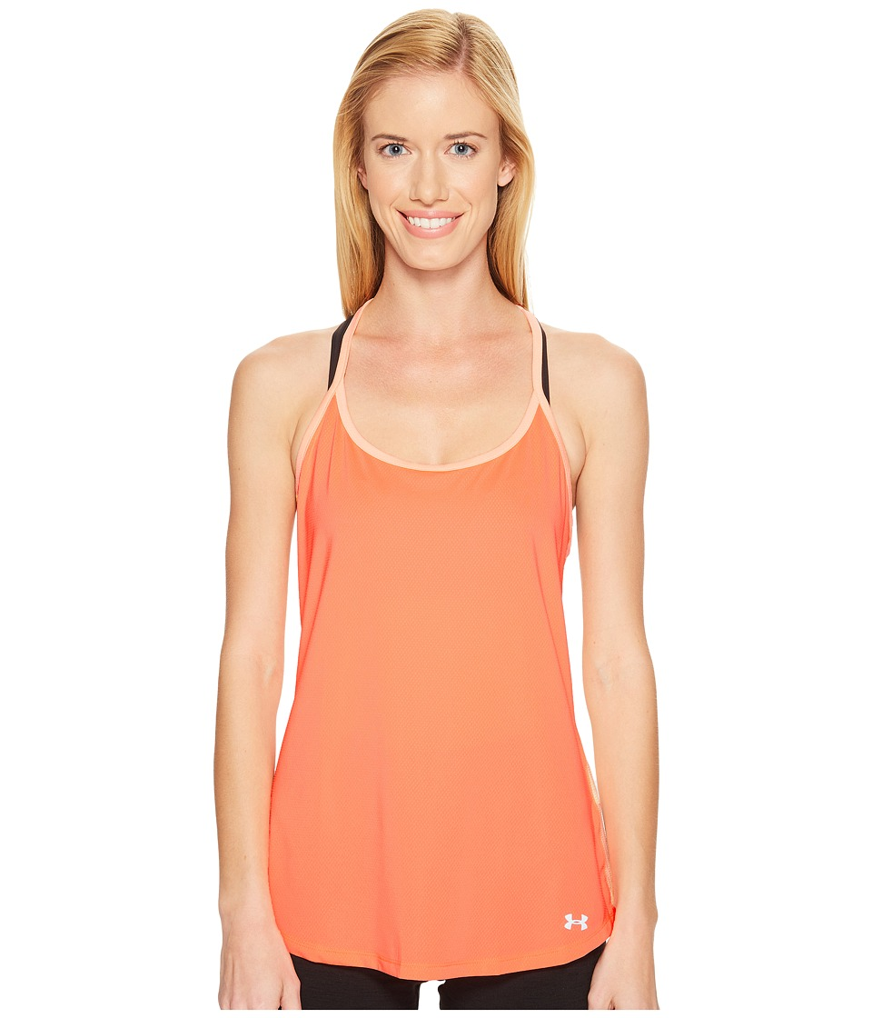 Under Armour Fly By Racerback Tank Top (London Orange/Playful Peach) Women