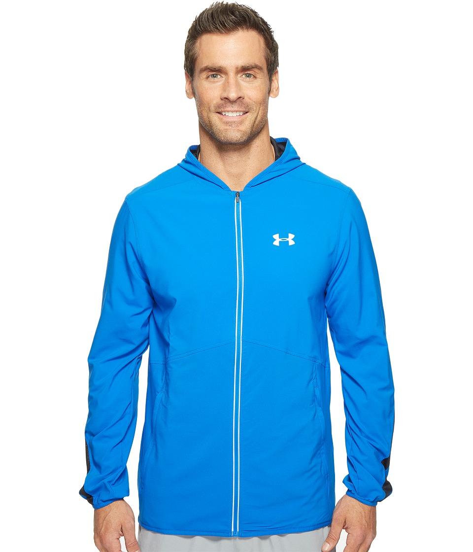 Under Armour - Run True Stretch Woven Jacket (Blue Marker/Black) Men's Coat
