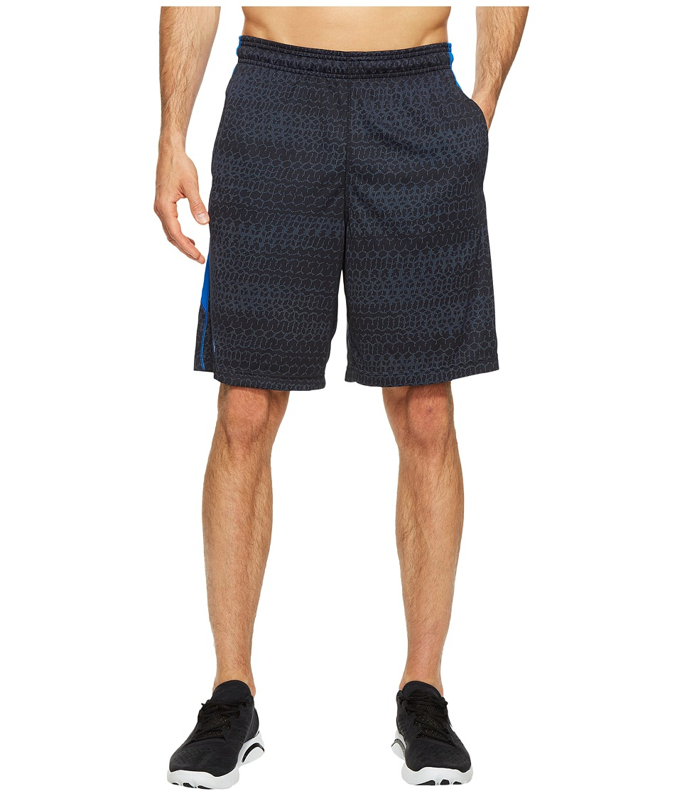 Under Armour - UA Raid Jacquard Shorts (Black/Blue Marker) Men's Shorts