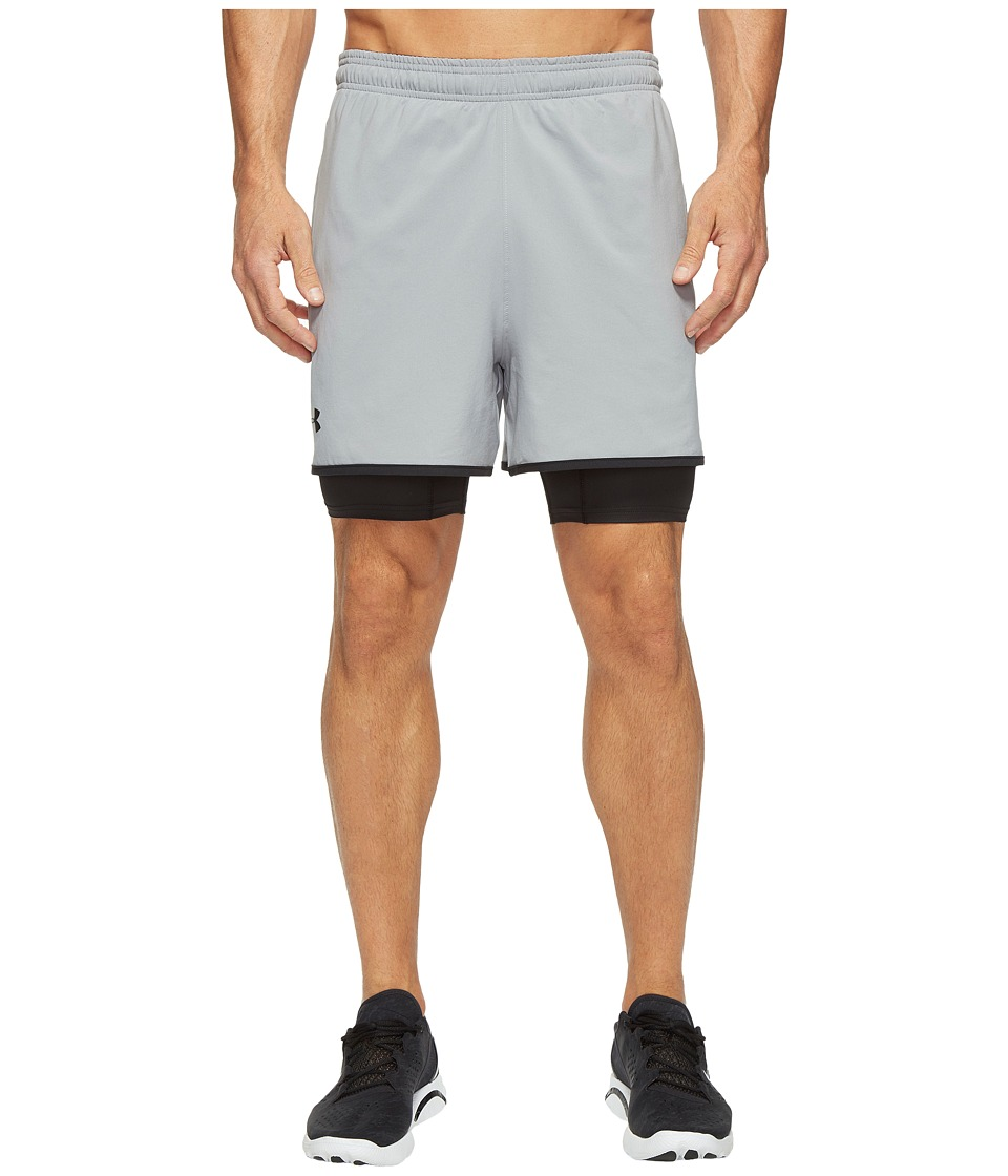 Under Armour - UA Qualifier 2-in-1 Shorts (Black) Men's Shorts