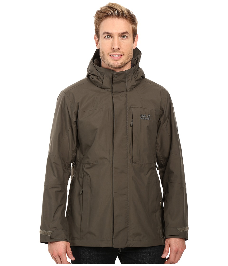 Jack Wolfskin - Brooks Range Flex Jacket (Olive Brown) Men's Coat