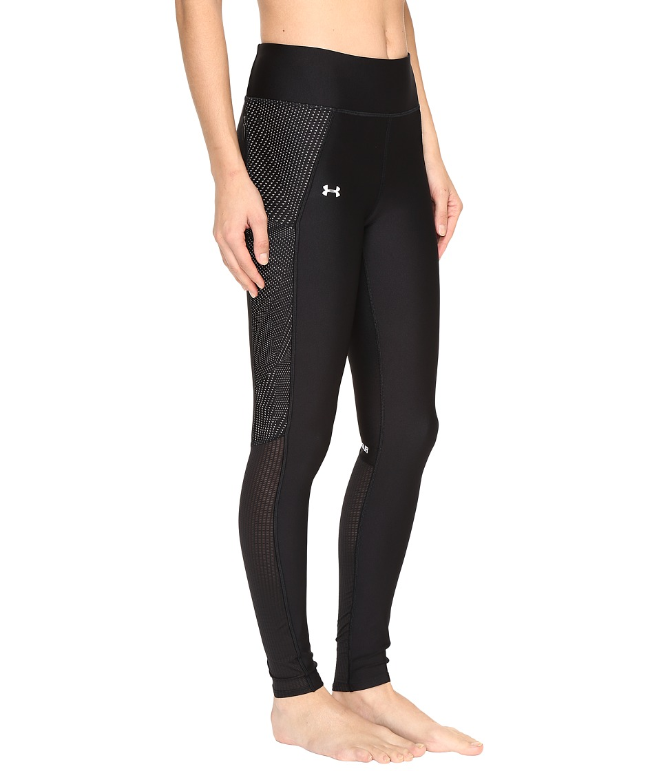 Under Armour - UA Fly-By Printed Legging (Black/Metallic Silver) Women's Casual Pants
