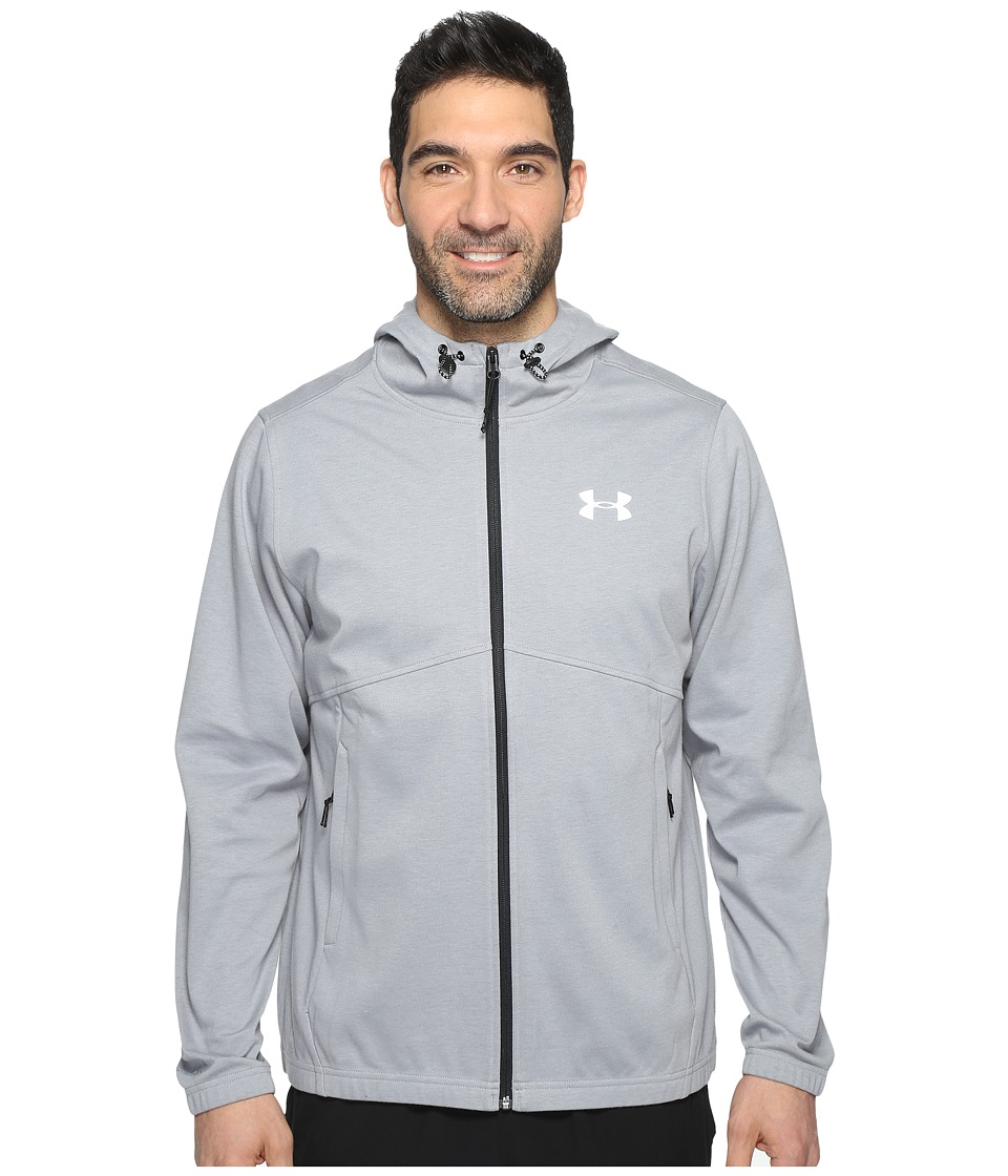 Under Armour Spring Swacket Full Zip (True Gray Heather/Black) Men
