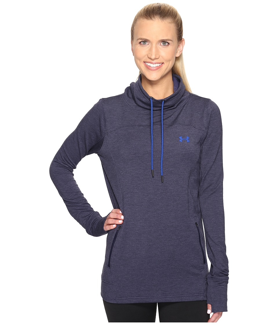 Under Armour - Featherweight Fleece Slouchy (Midnight Navy/Royal) Women's Fleece
