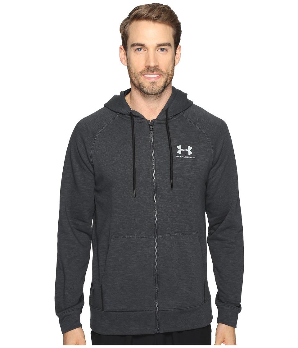 Under Armour - Sportstyle Full Zip Tri Hoodie (Black/Steel) Men's Sweatshirt