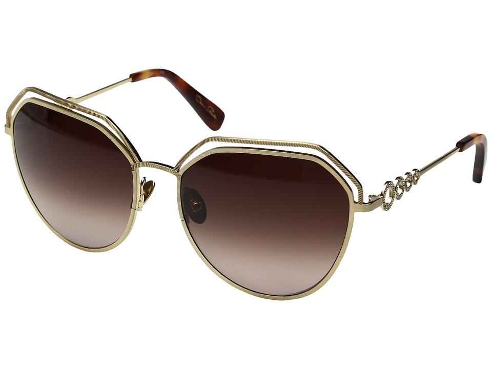 Oscar de la Renta - ODLRS-220 (Matte Soft Gold) Fashion Sunglasses