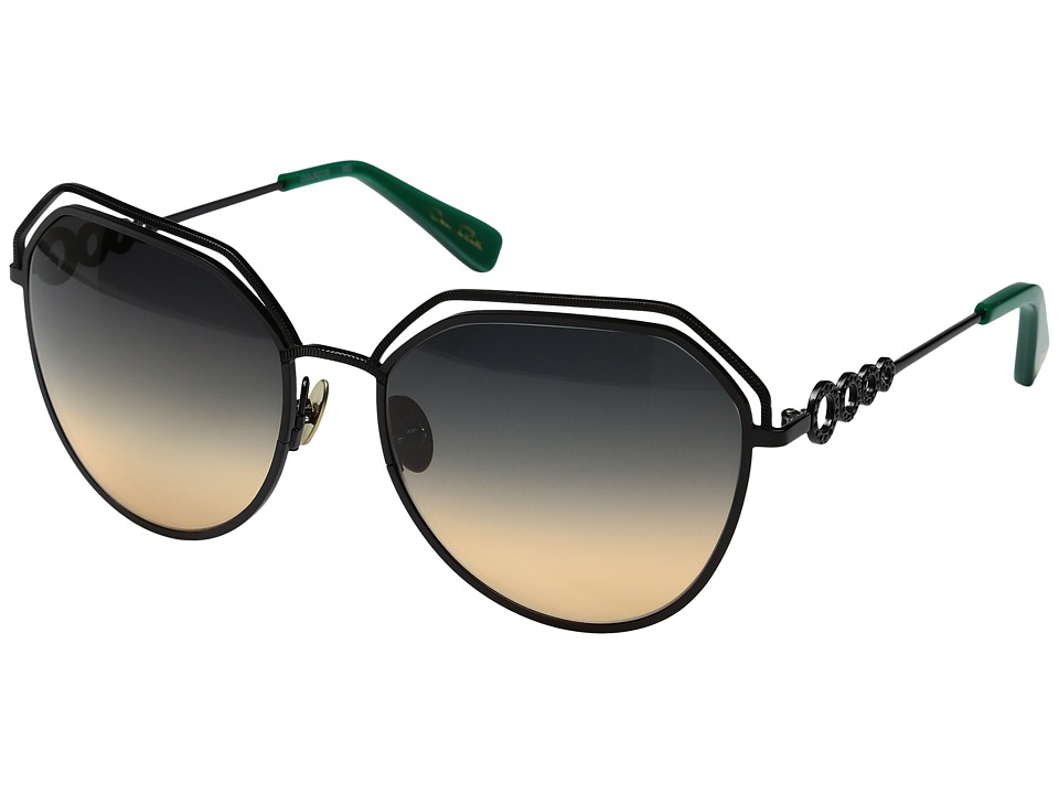 Oscar de la Renta - ODLRS-220 (Shiny/Matte Black) Fashion Sunglasses